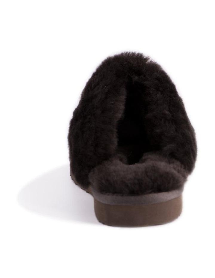 Unisex Sheepskin Wool Sydney Slippers - Chocolate image 3