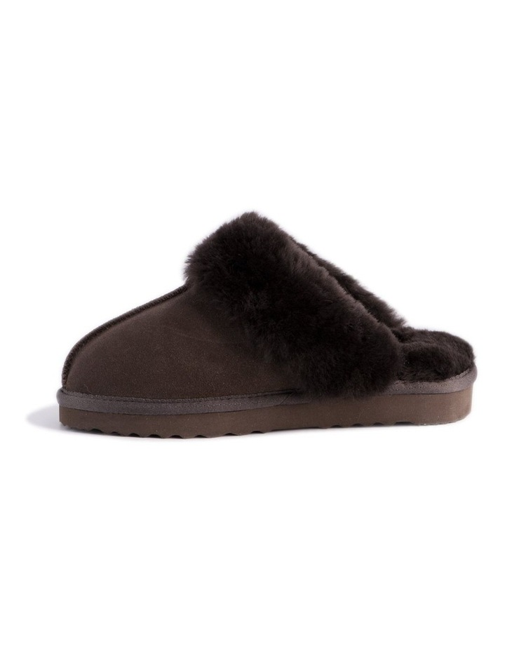 Unisex Sheepskin Wool Sydney Slippers - Chocolate image 4
