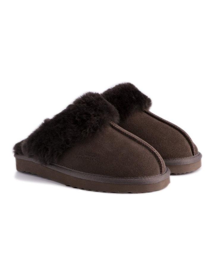 Unisex Sheepskin Wool Sydney Slippers - Chocolate image 6
