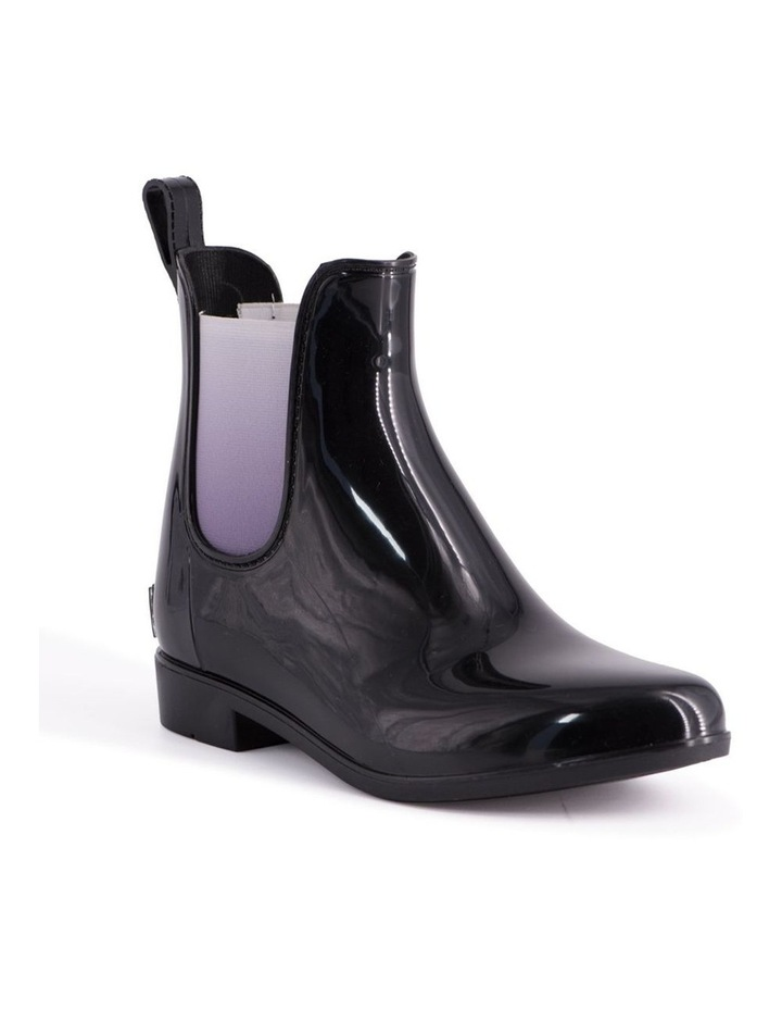 Womens Rainboots With Free Sheepskin Insole - Black/Grey image 1