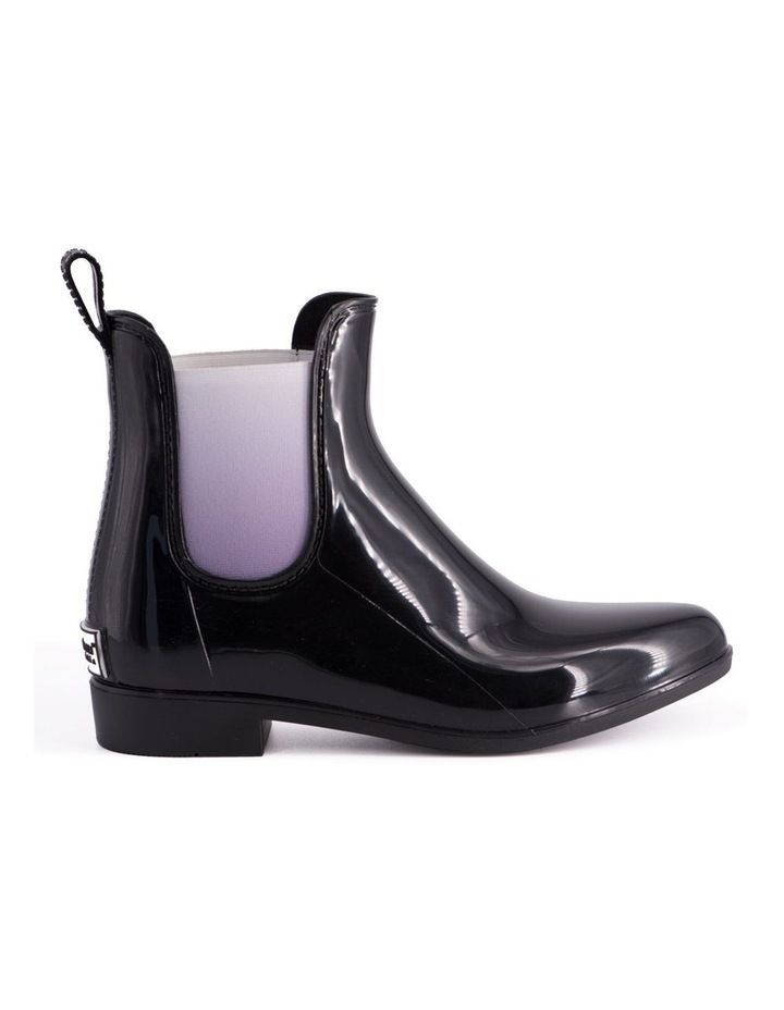 Womens Rainboots With Free Sheepskin Insole - Black/Grey image 2