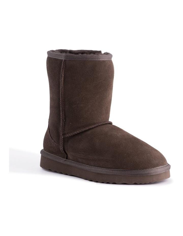 Mid Calf Sheepskin Boot - Chocolate image 1
