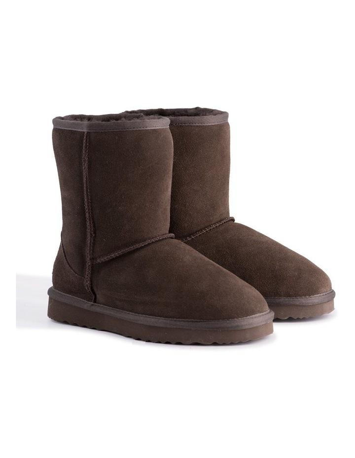 Mid Calf Sheepskin Boot - Chocolate image 2