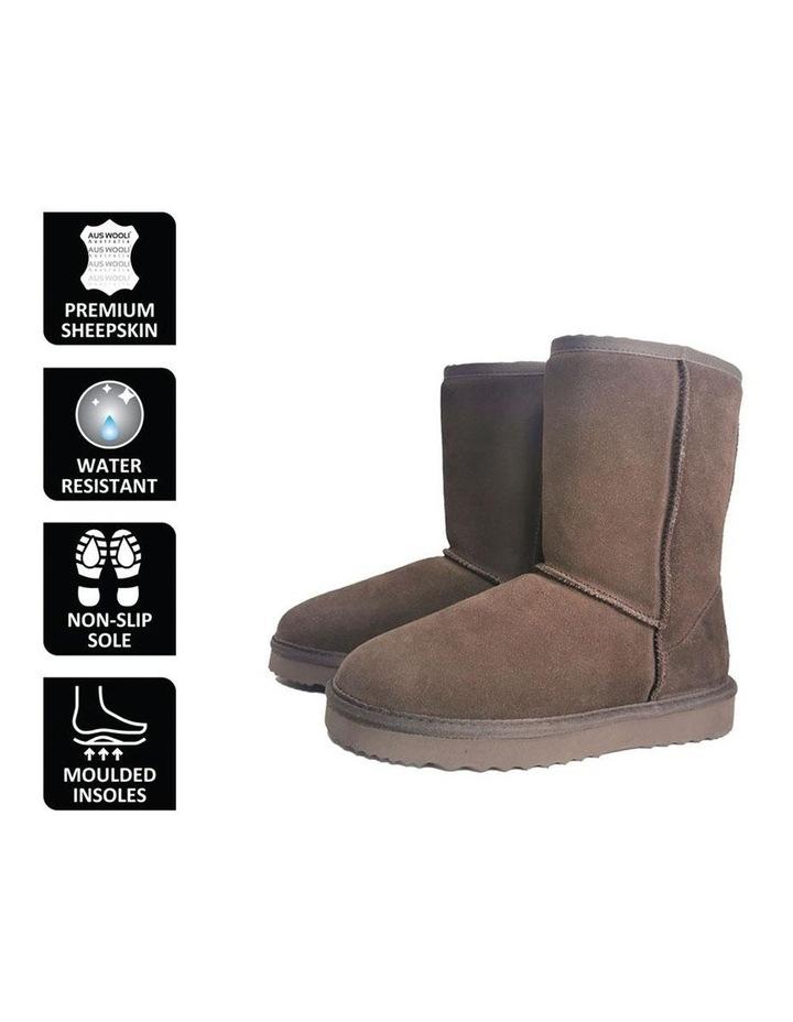 Mid Calf Sheepskin Boot - Chocolate image 6