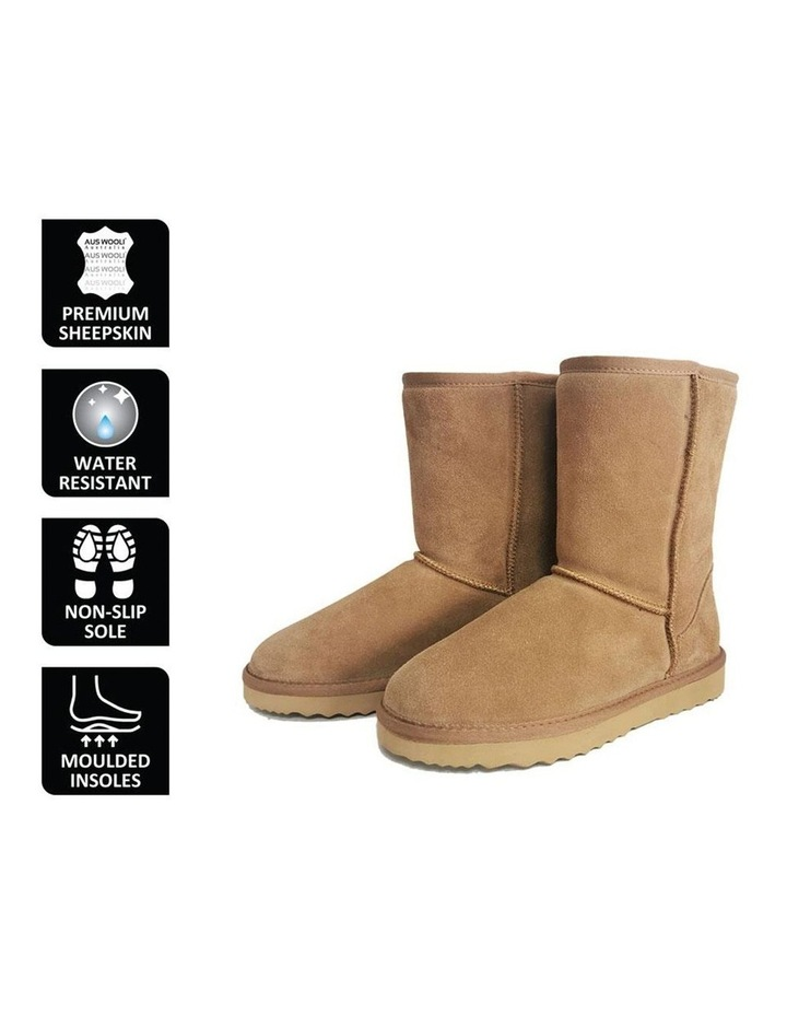 Mid Calf Sheepskin Boot - Chestnut/Tan image 6