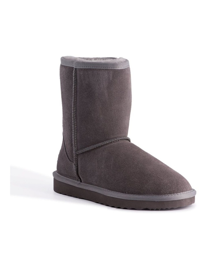 Mid Calf Zip-Up Sheepskin Boot - Grey image 1