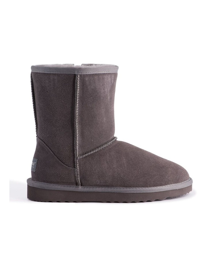 Mid Calf Zip-Up Sheepskin Boot - Grey image 7