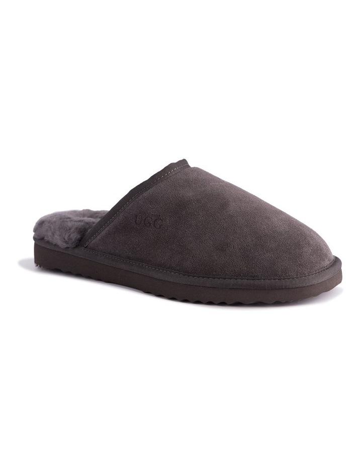 Unisex Sheepskin Wool Slippers - Dark Grey image 1