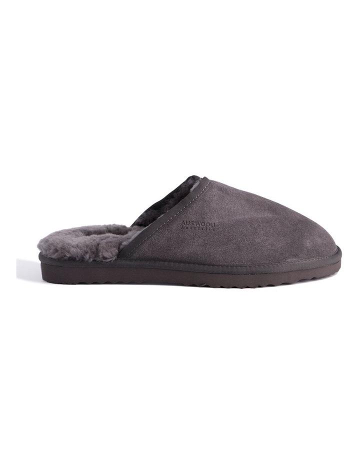 Unisex Sheepskin Wool Slippers - Dark Grey image 2