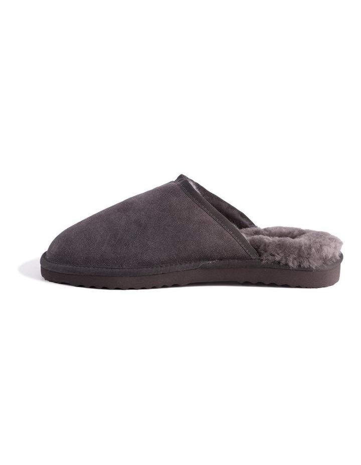 Unisex Sheepskin Wool Slippers - Dark Grey image 4