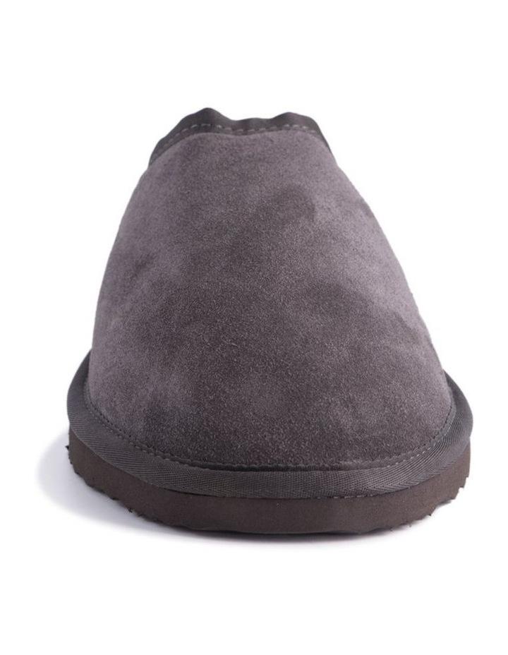 Unisex Sheepskin Wool Slippers - Dark Grey image 5