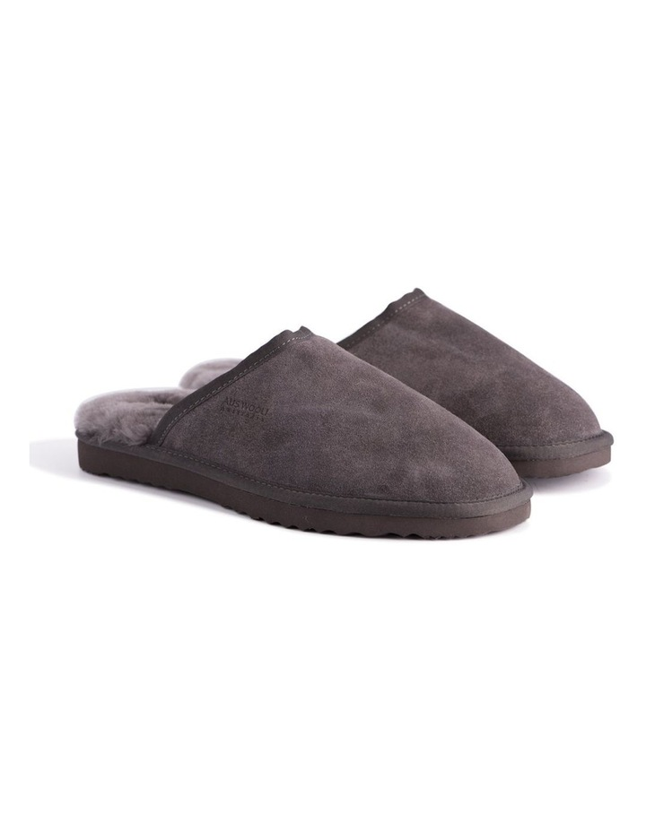 Unisex Sheepskin Wool Slippers - Dark Grey image 6