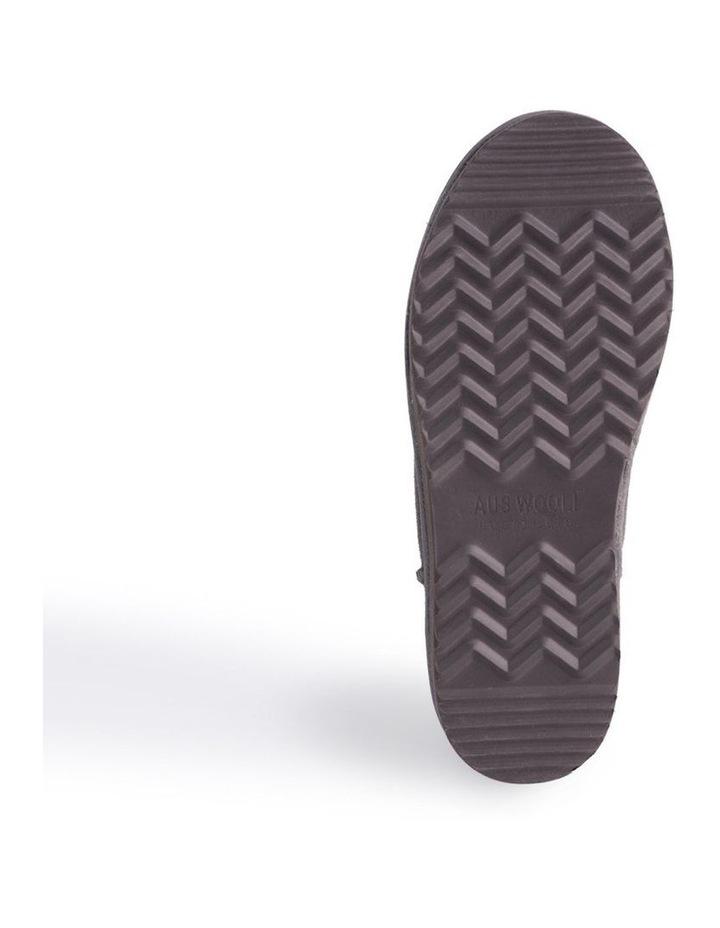 Unisex Sheepskin Wool Slippers - Dark Grey image 7