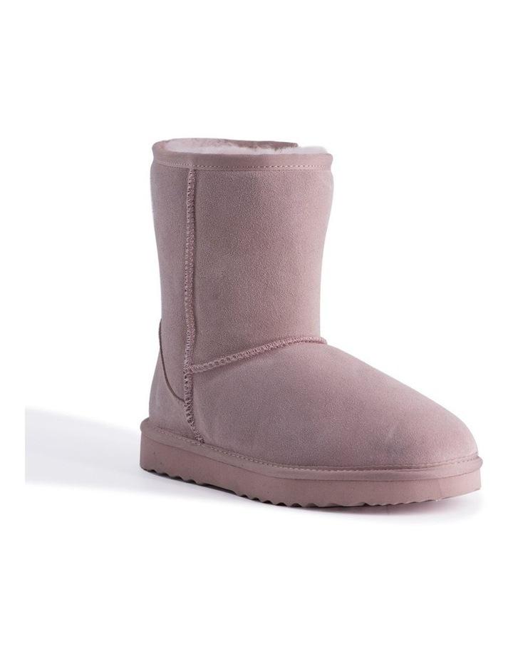 Mid Calf Sheepskin Boot - Pale Pink image 1