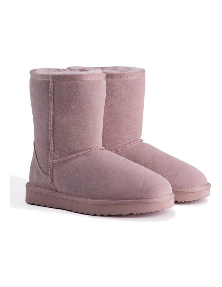 Mid Calf Sheepskin Boot - Pale Pink image 2