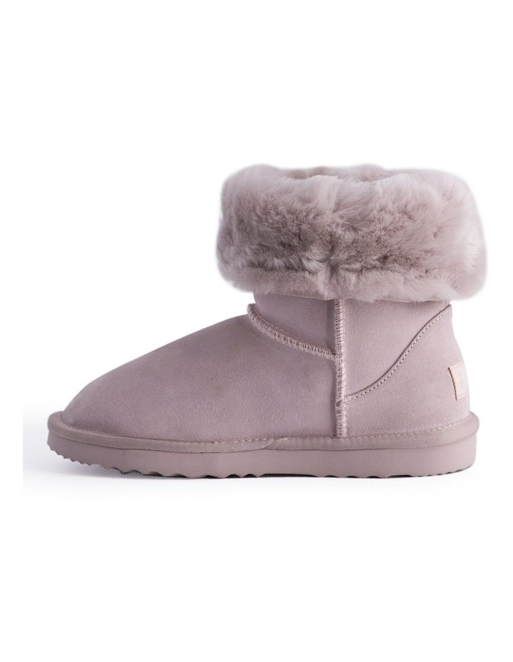 Mid Calf Sheepskin Boot - Pale Pink image 5