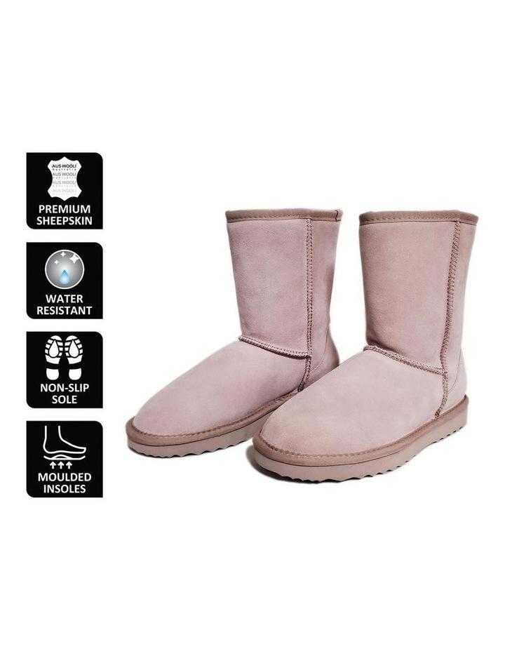 Mid Calf Sheepskin Boot - Pale Pink image 6