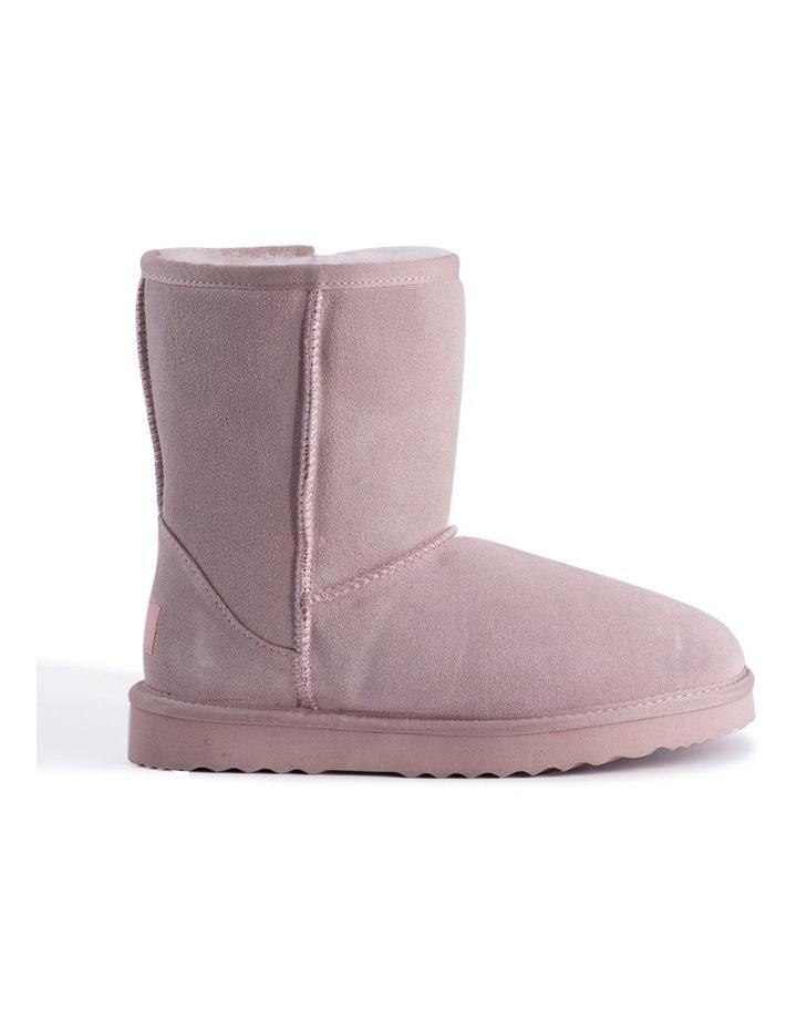 Mid Calf Sheepskin Boot - Pale Pink image 7