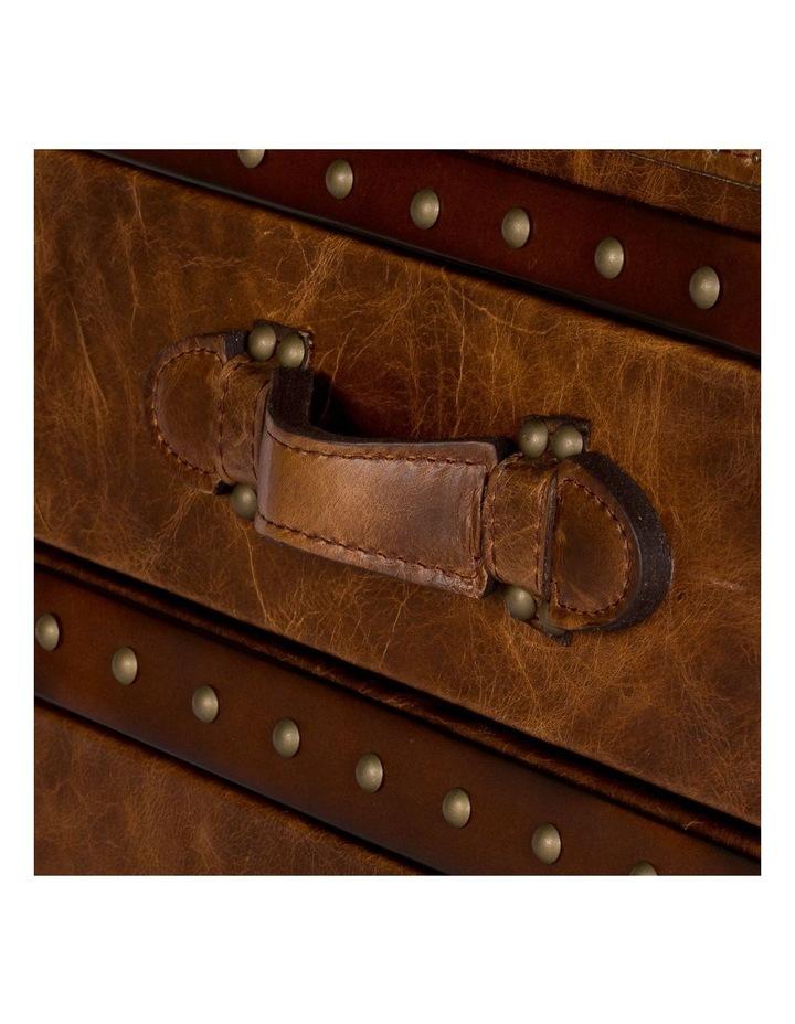 Trunk Antoine 3 Drawer Vintage Leather Cognac image 5