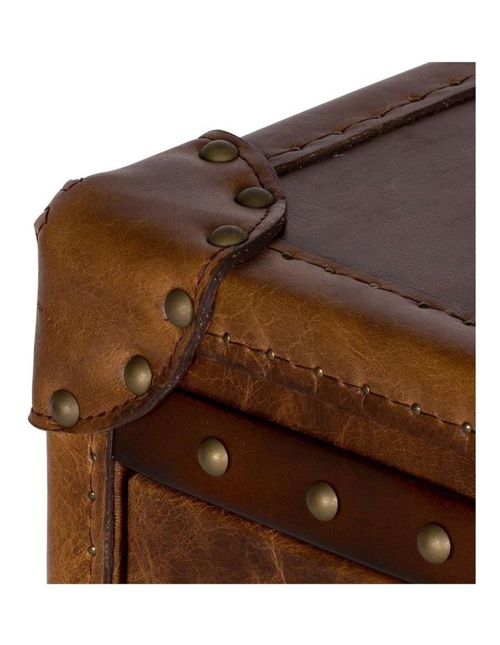 Trunk Antoine 3 Drawer Vintage Leather Cognac image 6