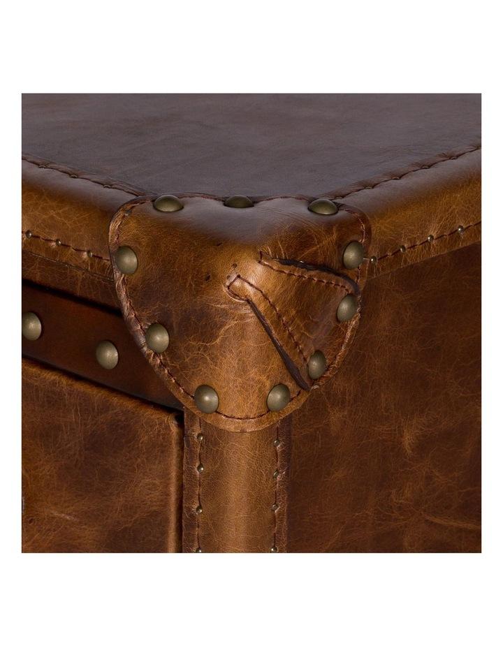 Trunk Antoine 3 Drawer Vintage Leather Cognac image 7