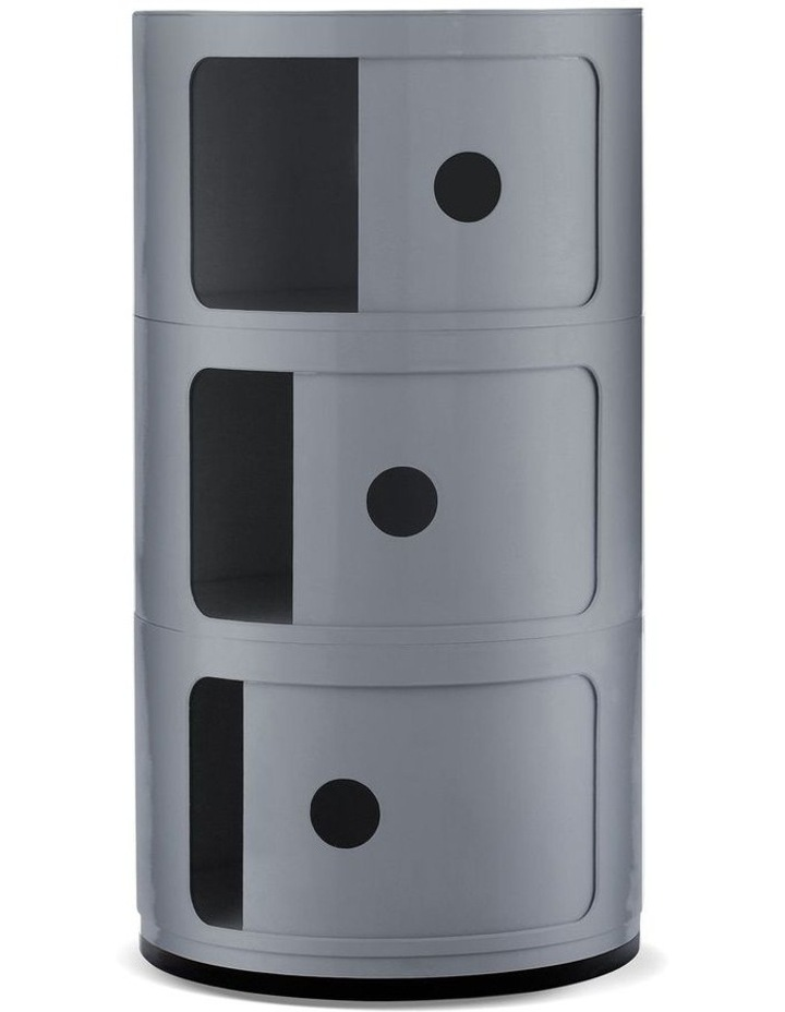 3-Draw Retro-Style Cylinder Tower image 2