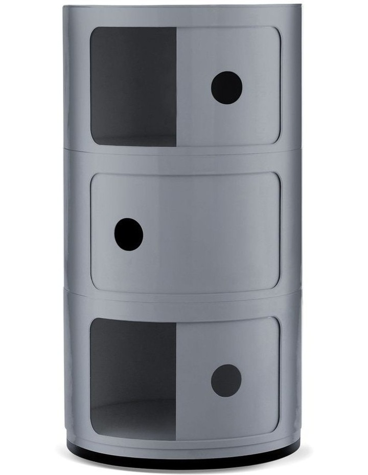 3-Draw Retro-Style Cylinder Tower image 3