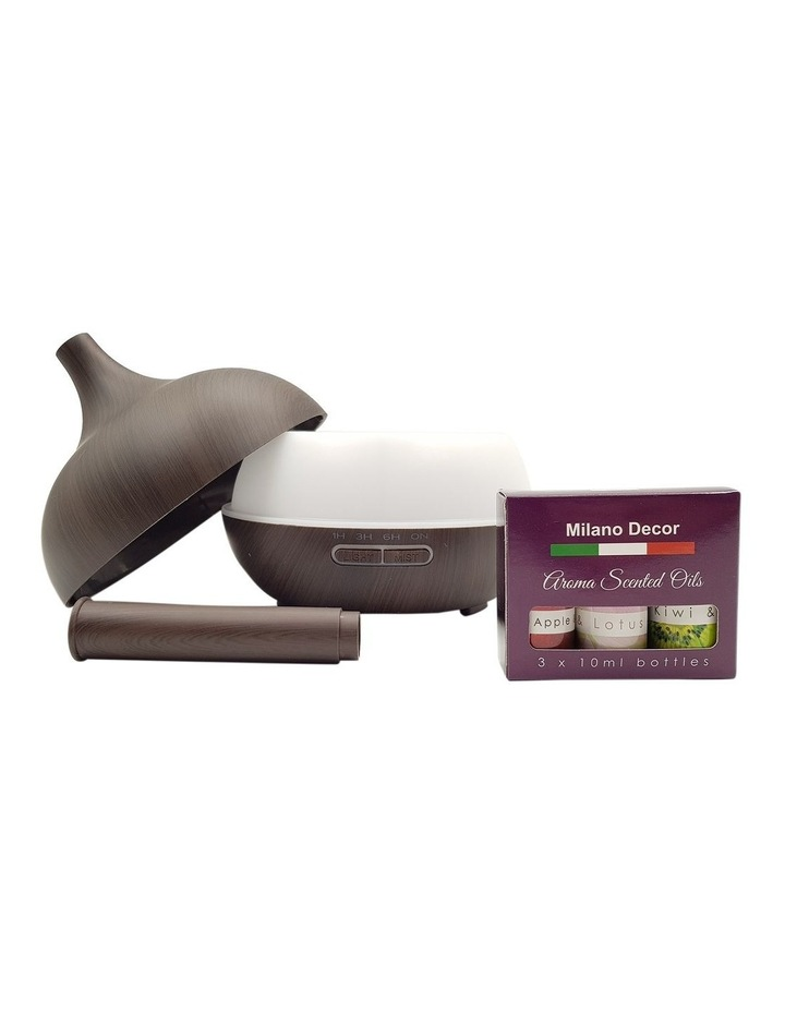 Milano Supreme Ultrasonic Aroma Diffuser with 3 Essential Oils image 3