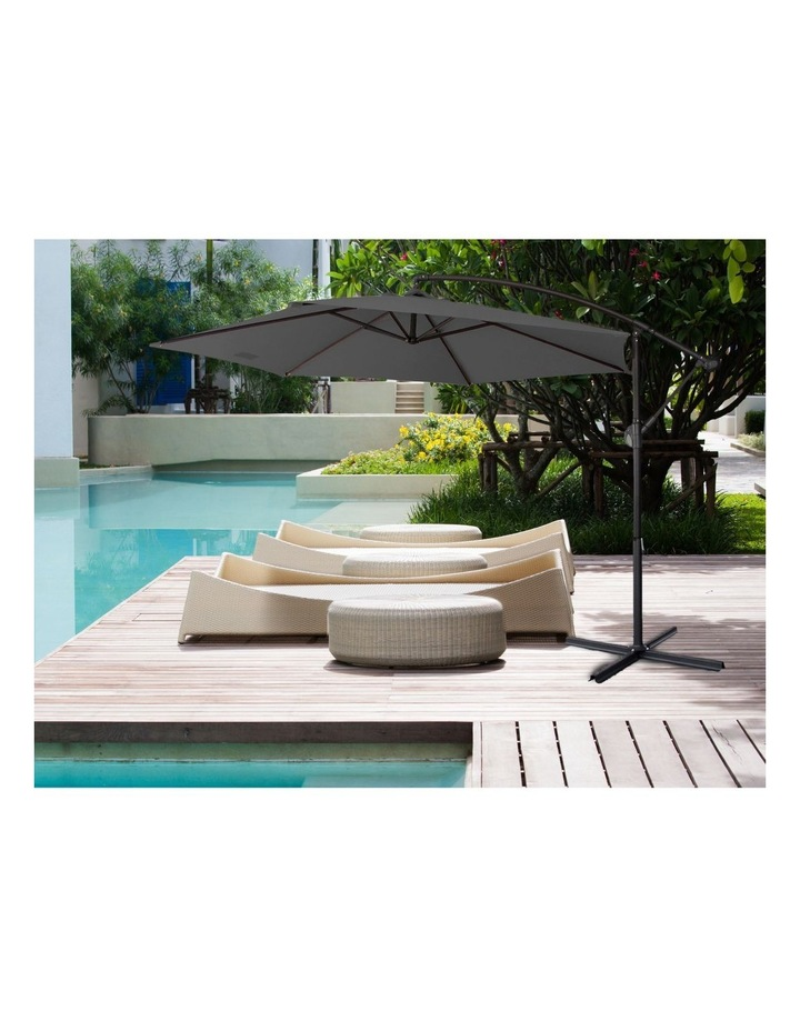 Outdoor 3 Meter Cantilever Umbrella - Various Colours image 4