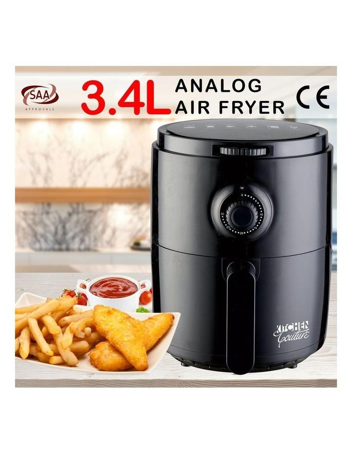 Air Fryer Healthy Food No Oil Cooking Recipe 3.4L Capacity Black image 2