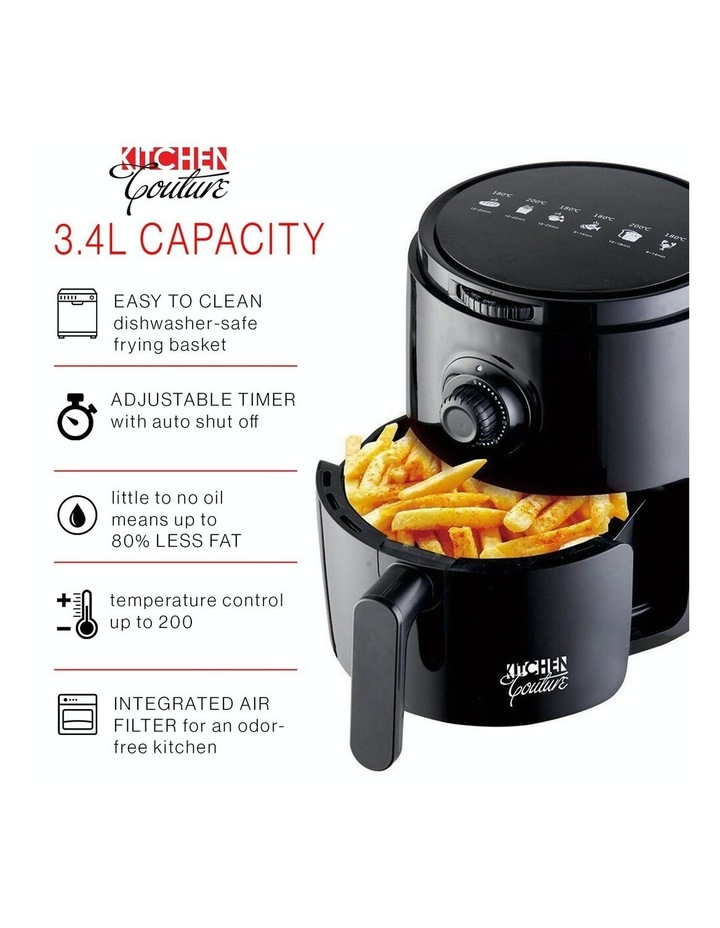 Air Fryer Healthy Food No Oil Cooking Recipe 3.4L Capacity Black image 3