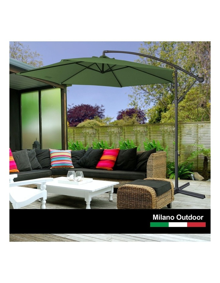 Outdoor - Outdoor 3 Meter Hanging and Folding Umbrella - Green image 3