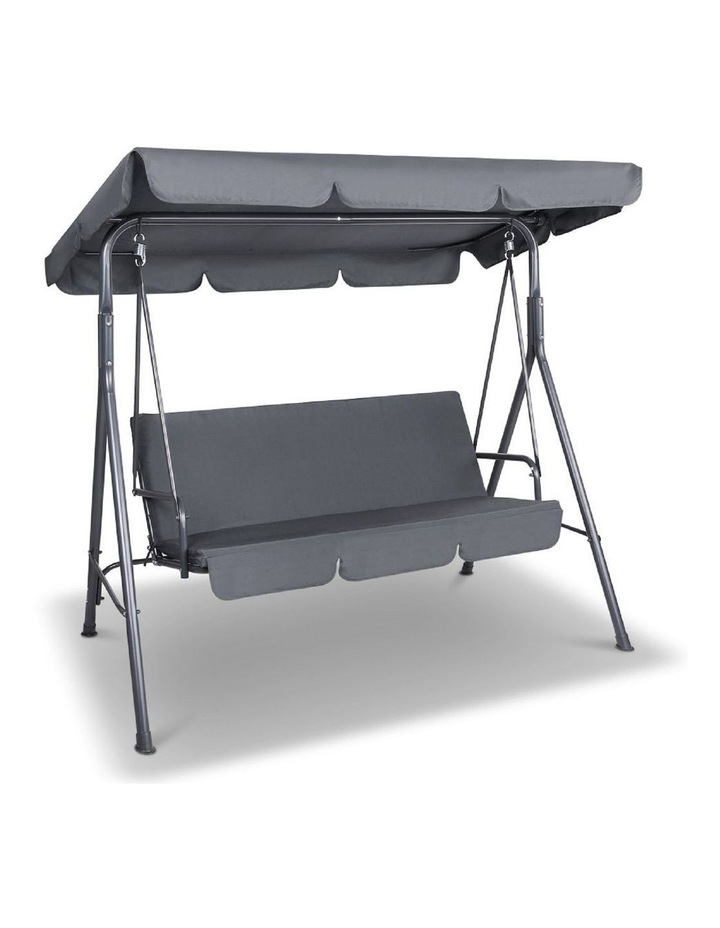 Outdoor Steel Swing Chair - Grey (1 Box) image 1