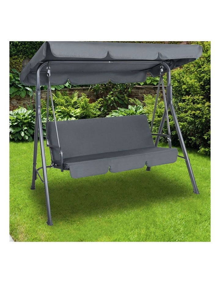 Outdoor Steel Swing Chair - Grey (1 Box) image 3