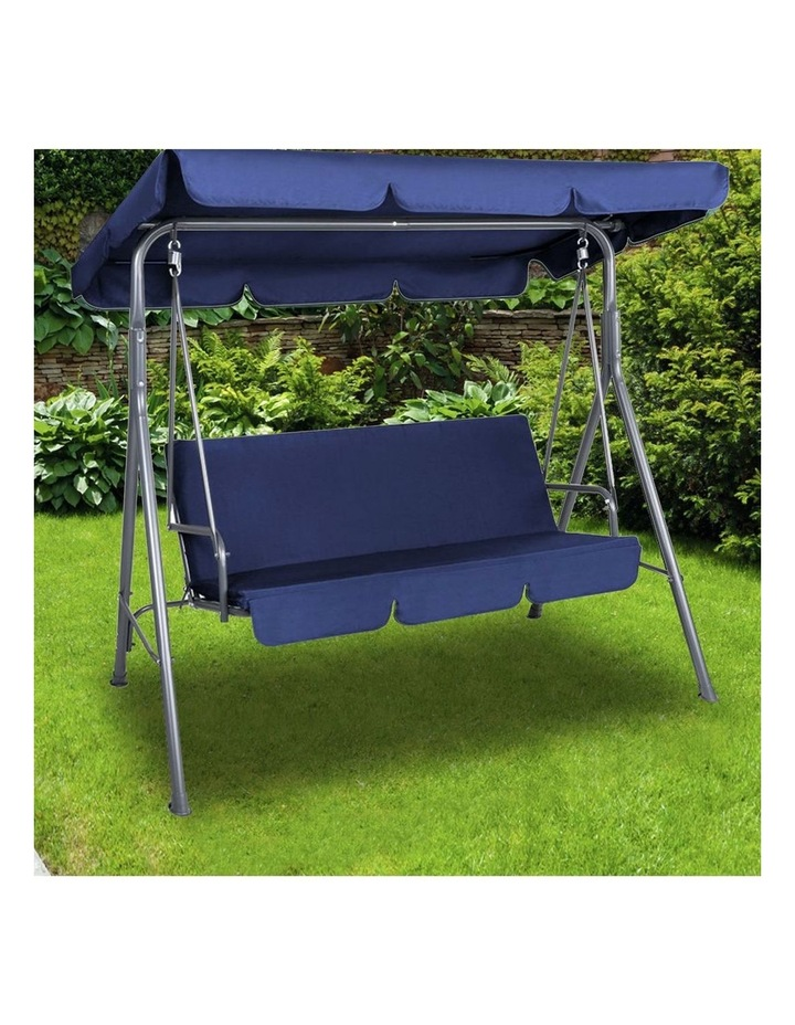 Outdoor Steel Swing Chair - Dark Blue (1 Box) image 3
