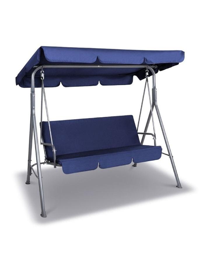 Outdoor Steel Swing Chair - Dark Blue (1 Box) image 4