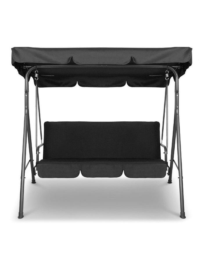 Milano Outdoor Steel Swing Chair - Black (1 Box) image 1