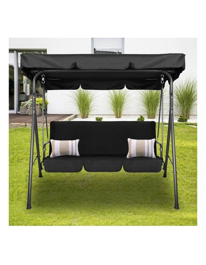 Milano Outdoor Steel Swing Chair - Black (1 Box) image 2