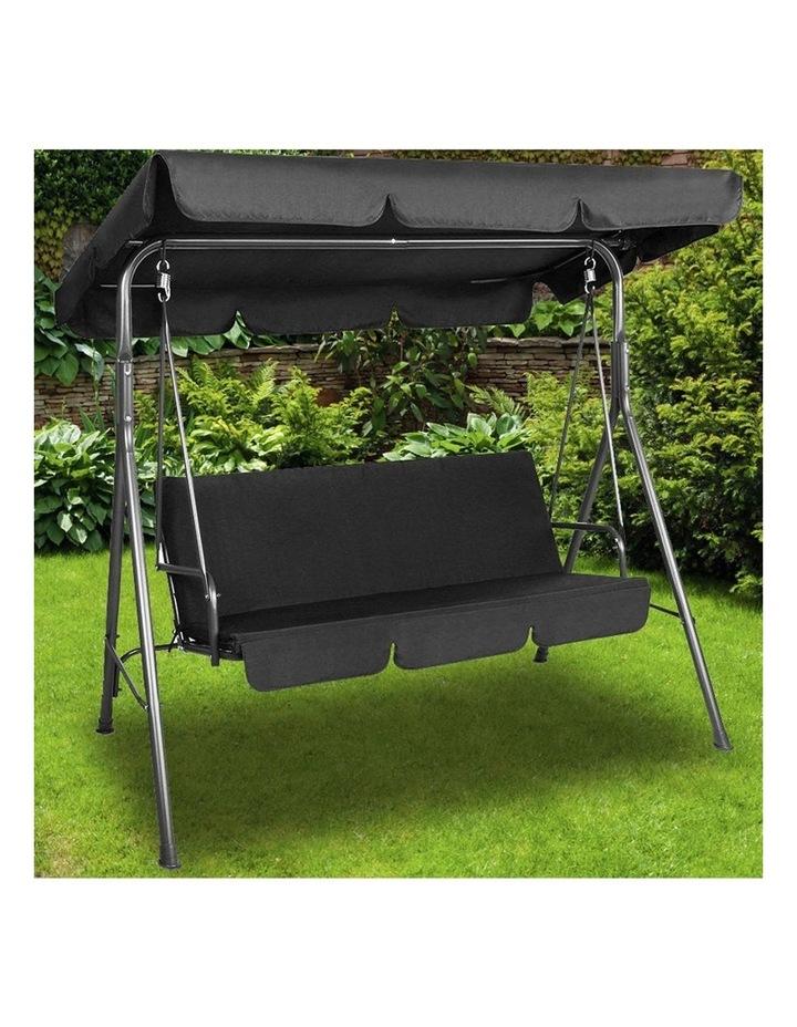 Milano Outdoor Steel Swing Chair - Black (1 Box) image 3