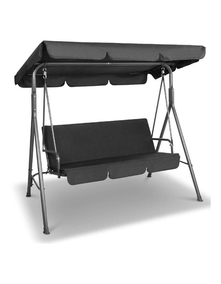Milano Outdoor Steel Swing Chair - Black (1 Box) image 4