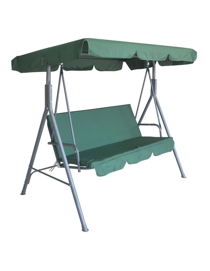 Milano Outdoor Steel Swing Chair - Dark Green (1 Box) image 1