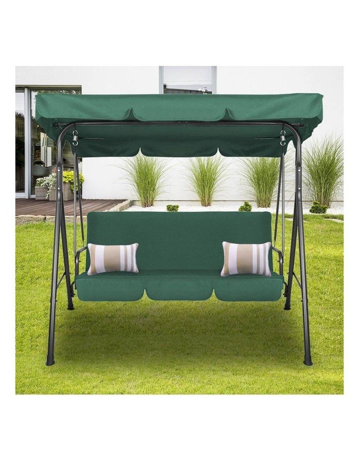 Milano Outdoor Steel Swing Chair - Dark Green (1 Box) image 2