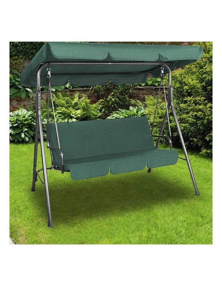 Milano Outdoor Steel Swing Chair - Dark Green (1 Box) image 3