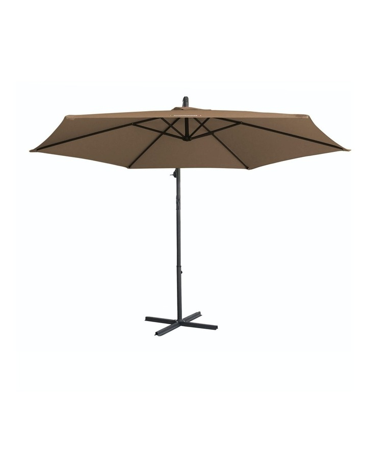 Milano Outdoor - Outdoor 3 Meter Hanging and Folding Umbrella - Latte image 1