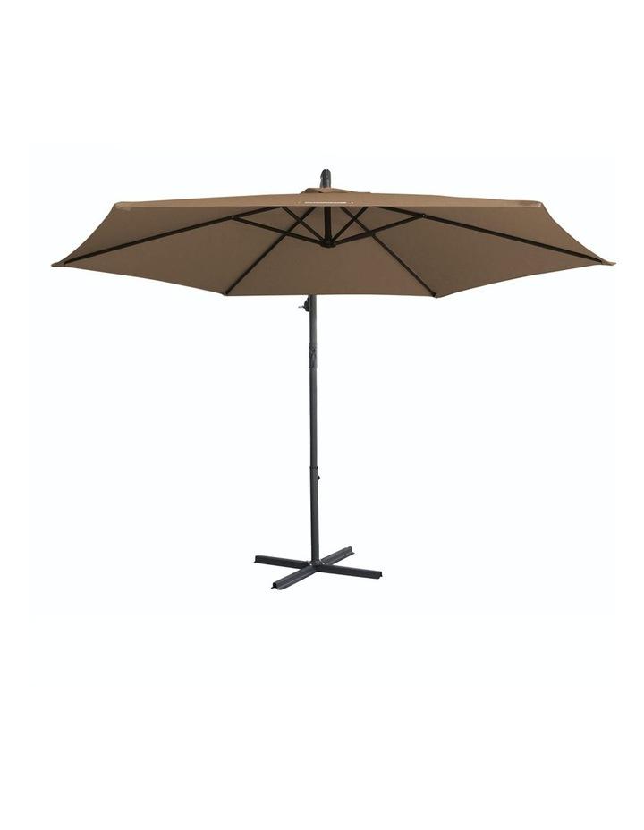 Milano Outdoor - Outdoor 3 Meter Hanging and Folding Umbrella - Latte image 4