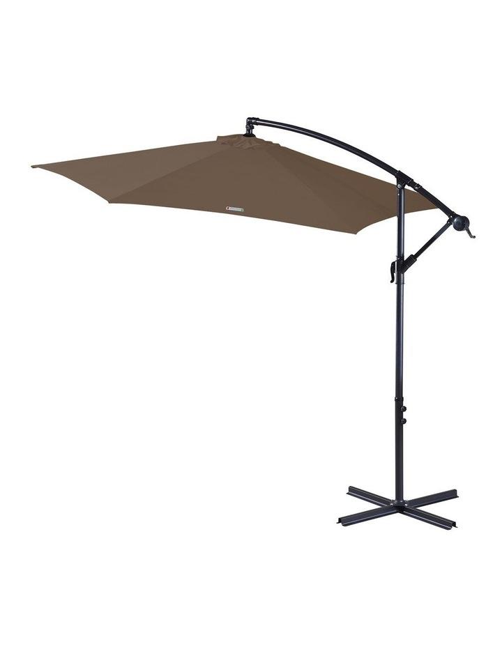 Outdoor 3 Metre Cantilever Umbrella (No Cover) - Latte image 1