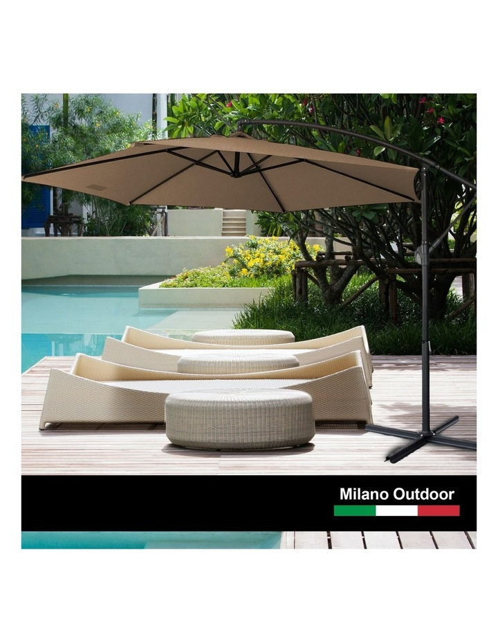 Outdoor 3 Metre Cantilever Umbrella (No Cover) - Latte image 2
