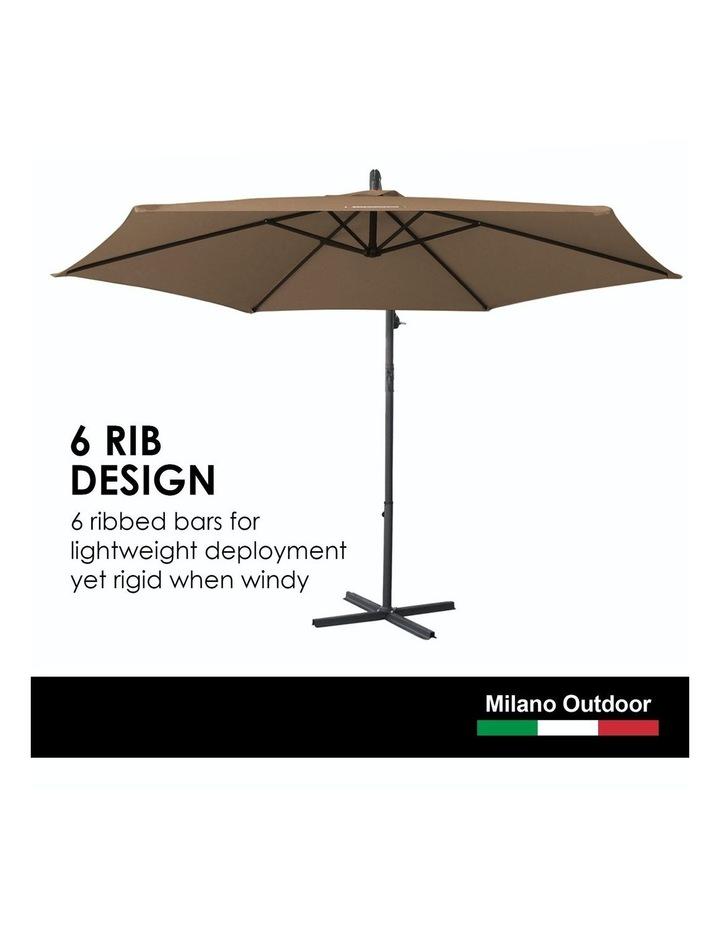 Outdoor 3 Metre Cantilever Umbrella (No Cover) - Latte image 4