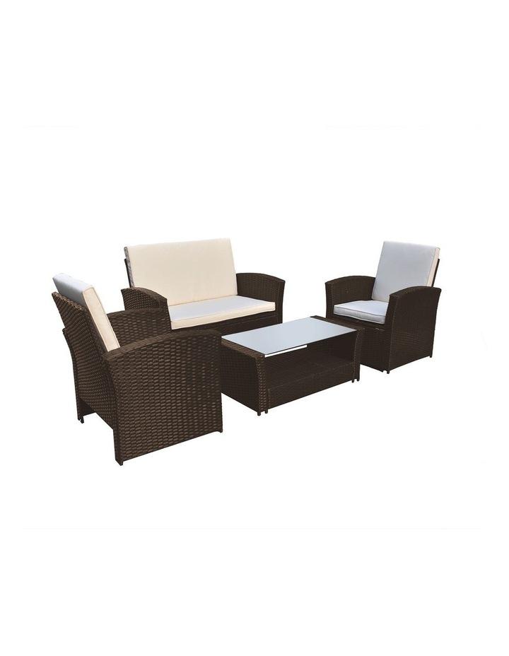 Arcadia Furniture 4 Piece Sofa Set - Oatmeal and Grey image 1