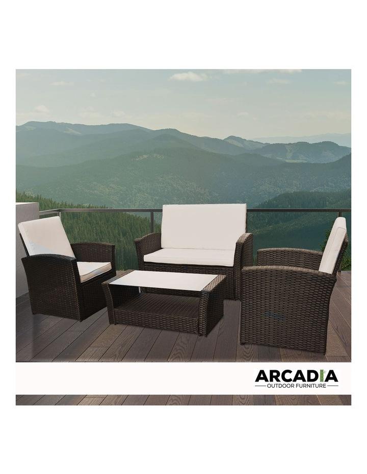 Arcadia Furniture 4 Piece Sofa Set - Oatmeal and Grey image 2